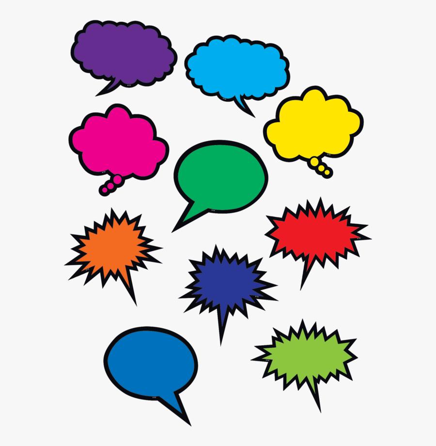 Colorful Speech/thought Bubbles Accents - Colorful Speech Bubbles, Transparent Clipart