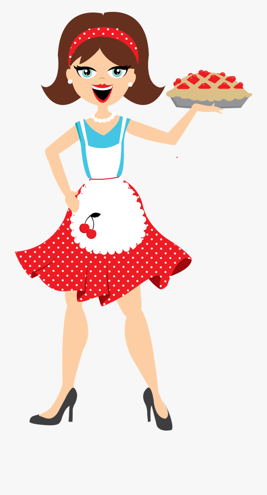 Clip Royalty Free Stock Minus Say Hello Cocina - Boneca De Avental Desenho, Transparent Clipart