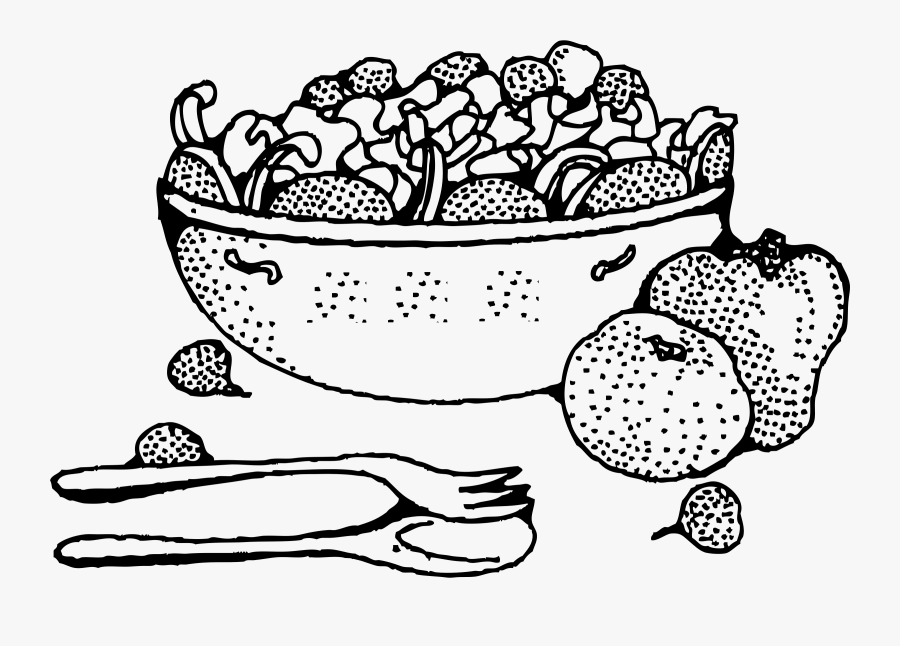 Picture Royalty - Salad Black And White, Transparent Clipart