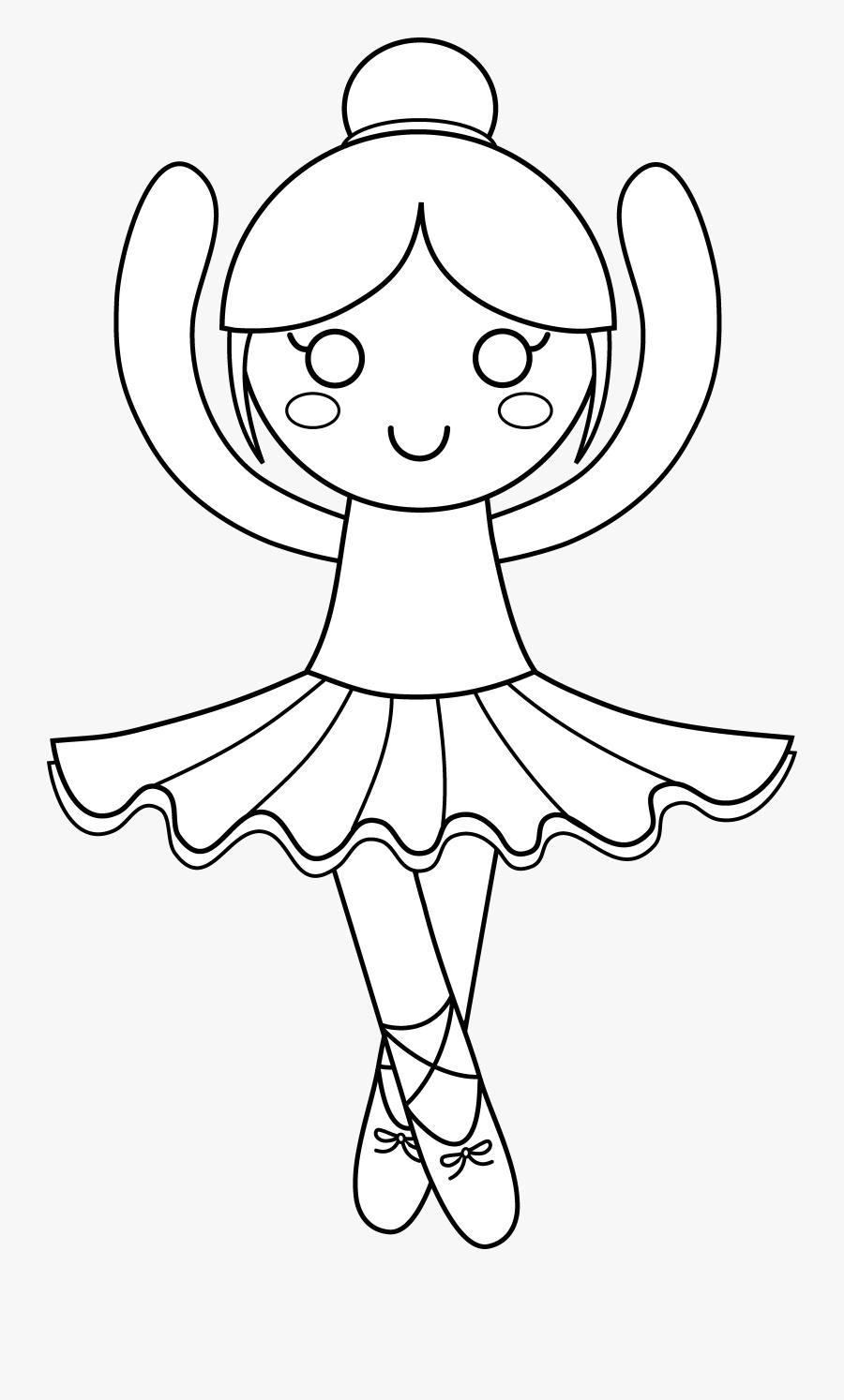 Transparent Ballet Shoes Clip Art - Clipart Black And White Ballerinas, Transparent Clipart