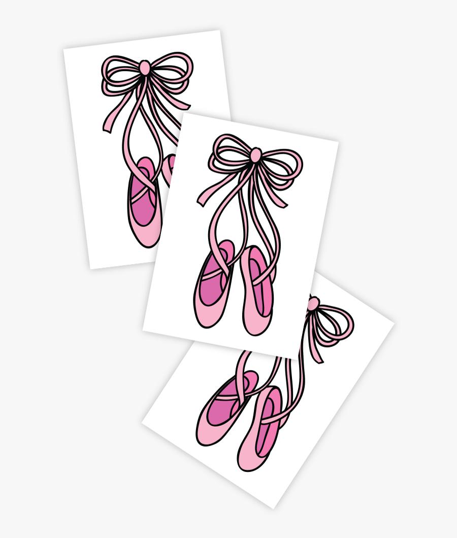 "Pointe""  Class= - Ballet Shoe Tattoo Pointes, Transparent Clipart"