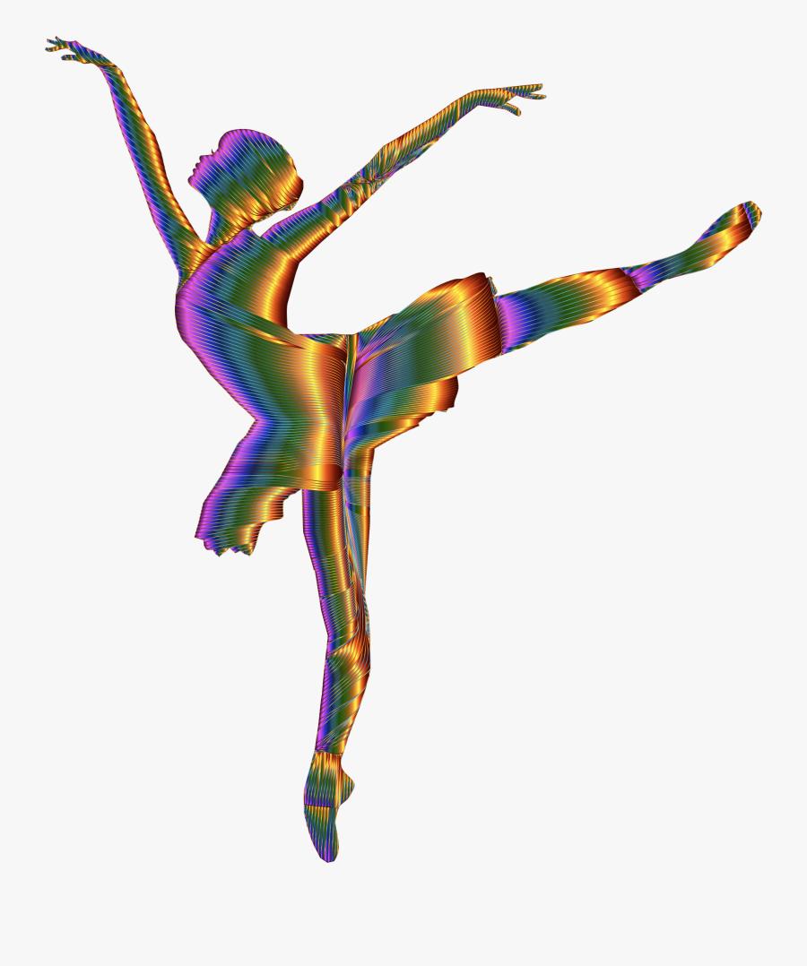 Chromatic Graceful Ballerina Silhouette No Background - Ballet Dancer Silhouette Png, Transparent Clipart