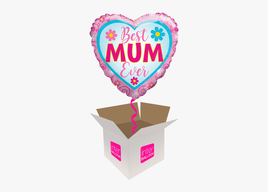 Best Mum Ever Floral Heart - Free Fathers Day Emojis, Transparent Clipart