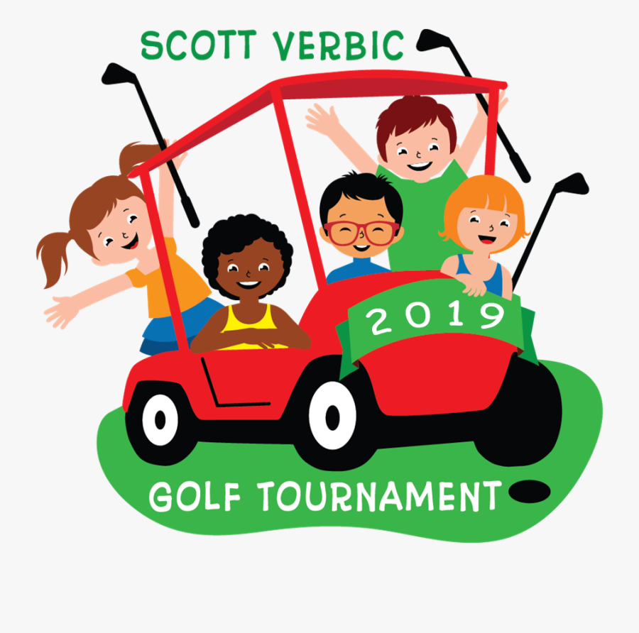 Image Logo Of Children Riding On Golf Cart Golf Cart With Kids Cartoon Free Transparent Clipart Clipartkey