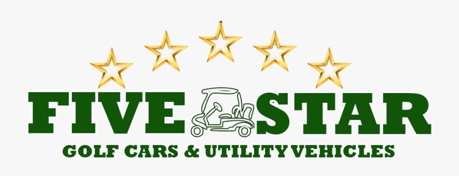 Five Star Golf Cars Logo - Five Star Golf Cars, Transparent Clipart