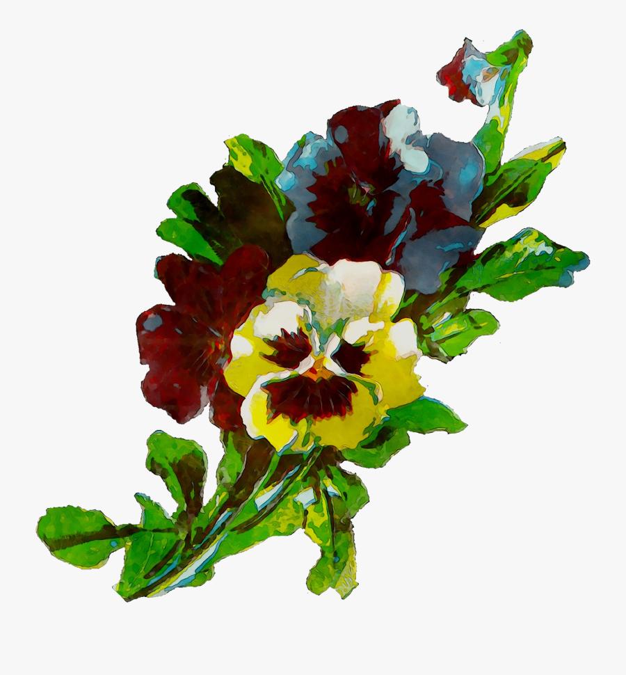 Pansy Floral Flowers Cut Design Hq Image Free Png Clipart - Bouquet, Transparent Clipart
