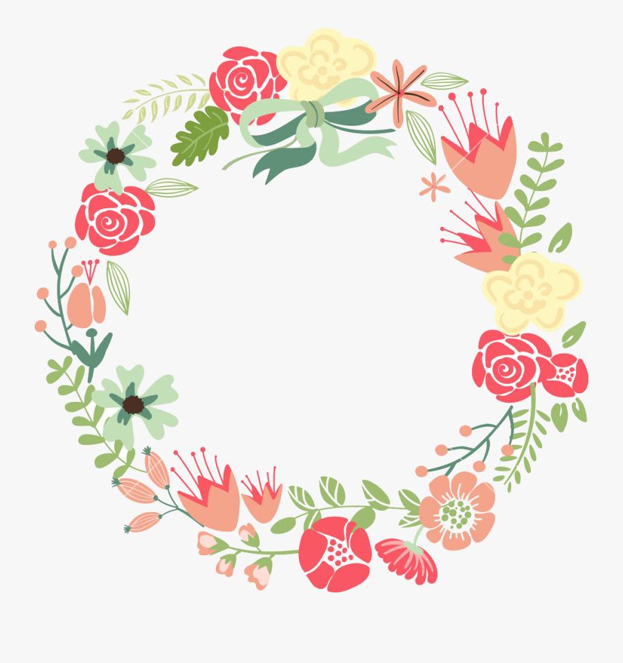 Floral Frame Png Images Transparent Free Download - Floral Circle Frame Png, Transparent Clipart