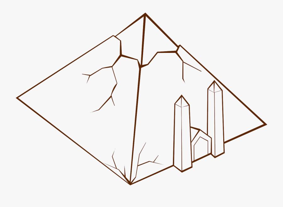 Rpg Map Symbols Pyramid - Fantasy Map Pyramid Icons Png, Transparent Clipart