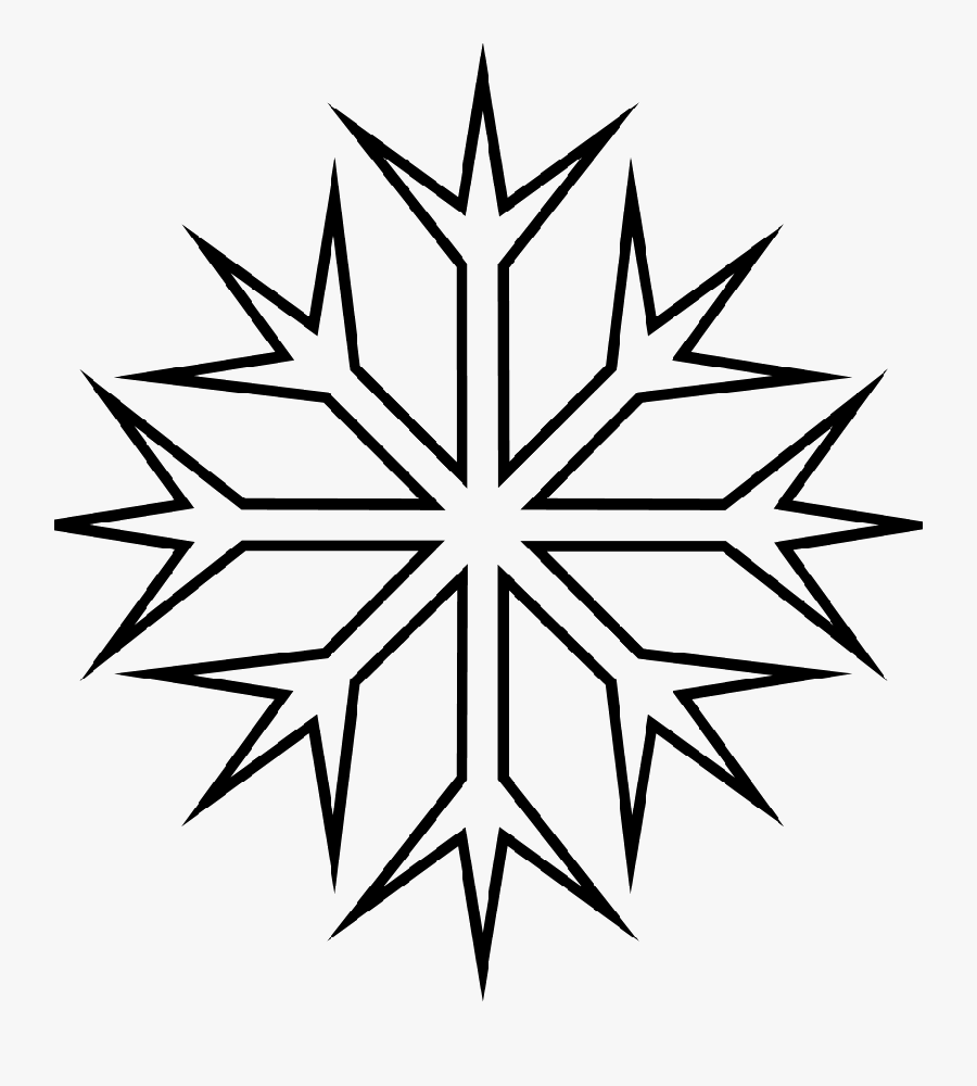 Printables Coloring Pages Snowflakes Clipart , Png - Coloring Pages Of Winter Snowflakes, Transparent Clipart