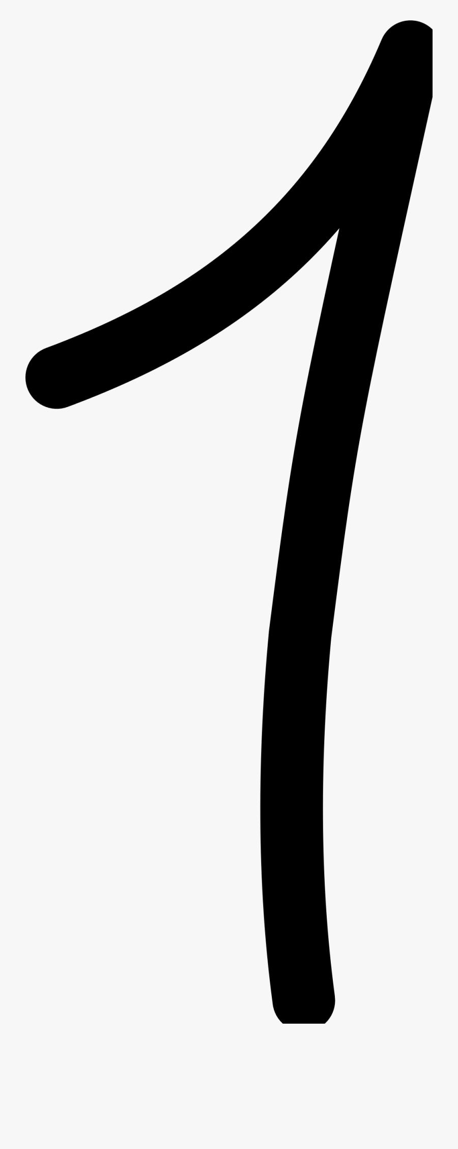 1 Clipart Transparent Png - Number One 1 Transparent Background, Transparent Clipart