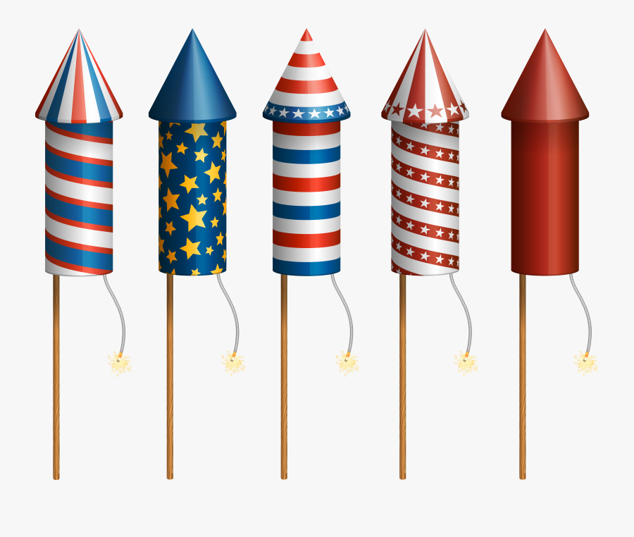 Firecrackers Transparent Images - Fourth Of July Firework Rocket, Transparent Clipart