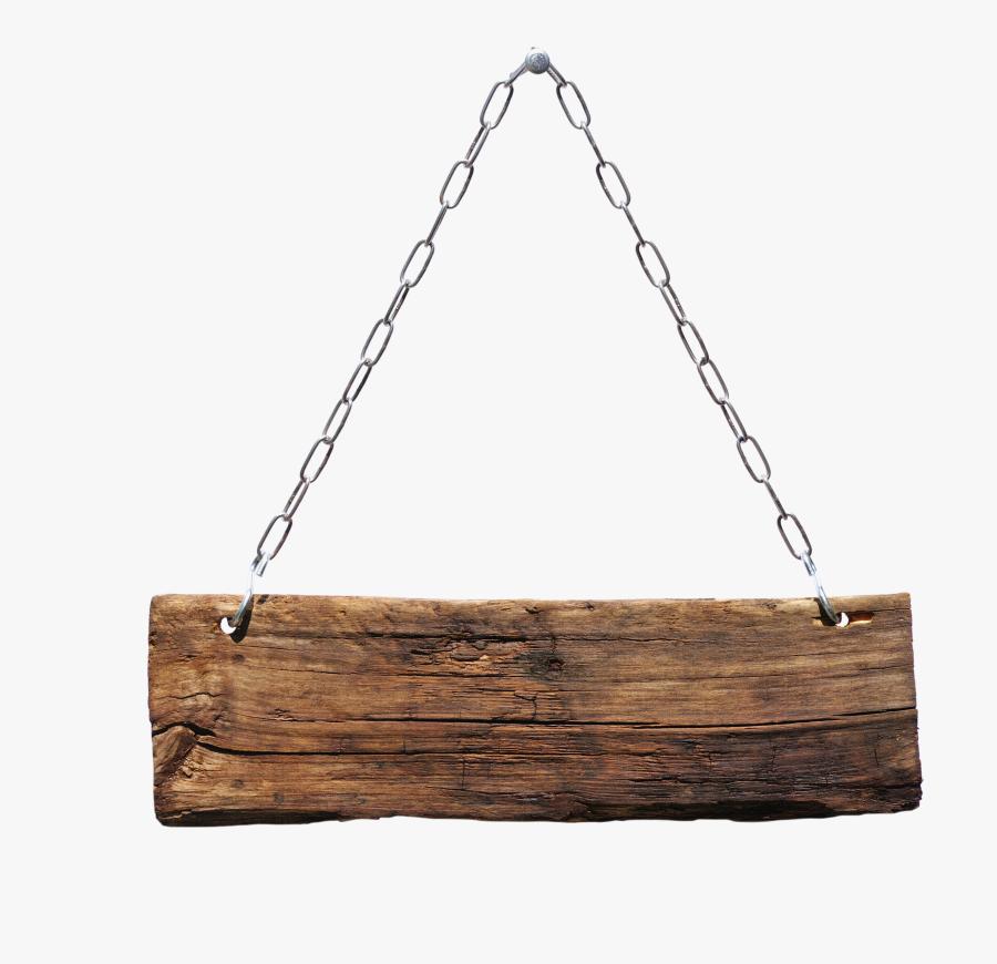 Transparent Hanging Sign Clipart - Hanging Wood Sign Png, Transparent Clipart