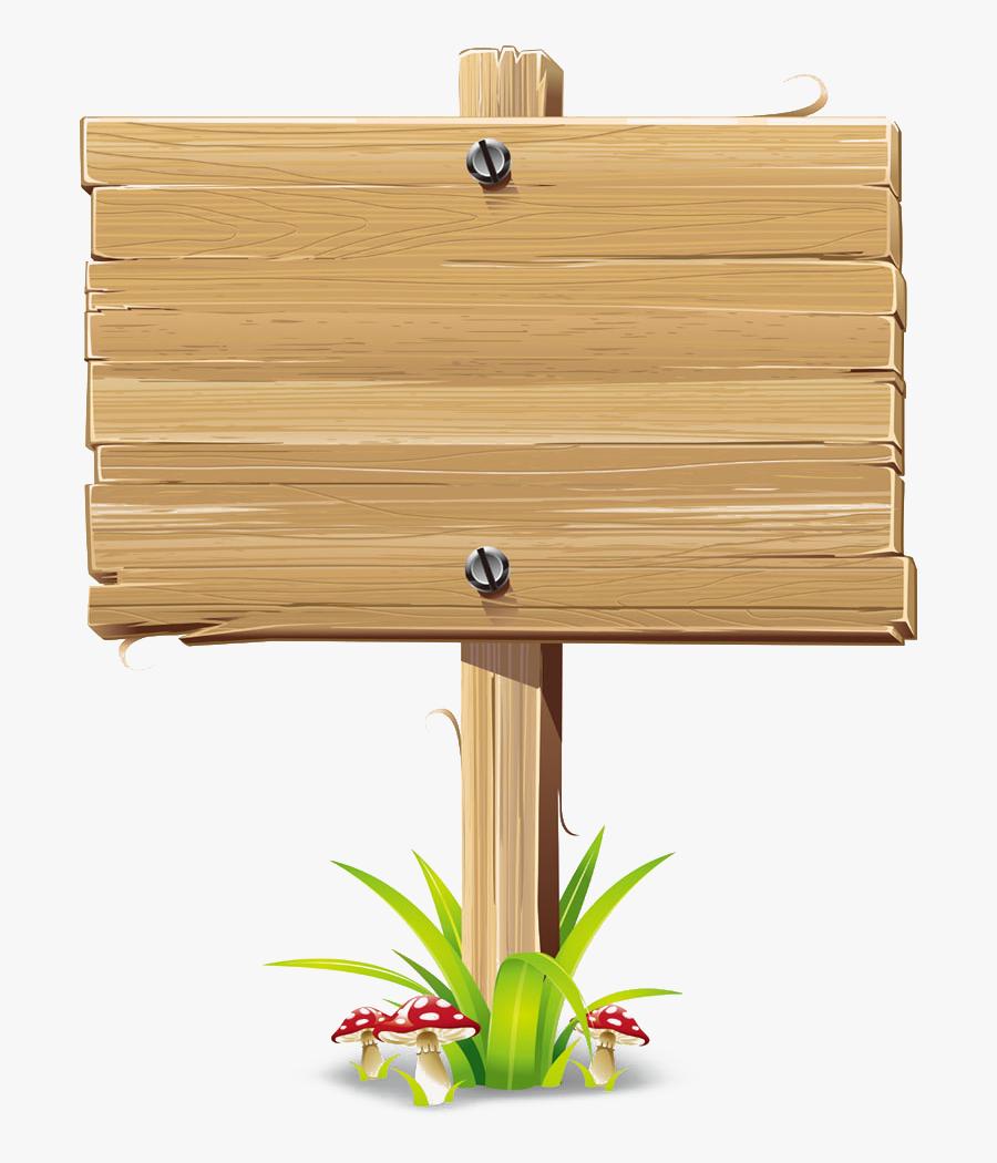 Wood Sign Billboard Clip Art - Wood Sign Board Vector, Transparent Clipart