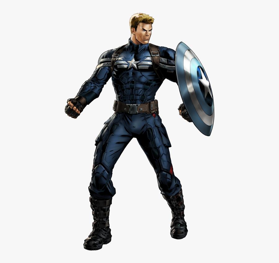 Captain Marvel Clipart Marvel Avengers Alliance - Captain America Stealth Suit Comic, Transparent Clipart