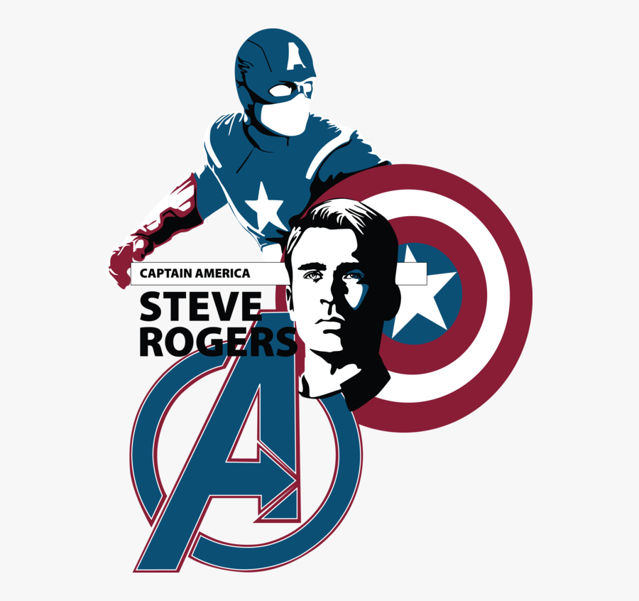 And America Hulk Thor The Captain Avengers Clipart - Captain America Steve Rogers Png, Transparent Clipart