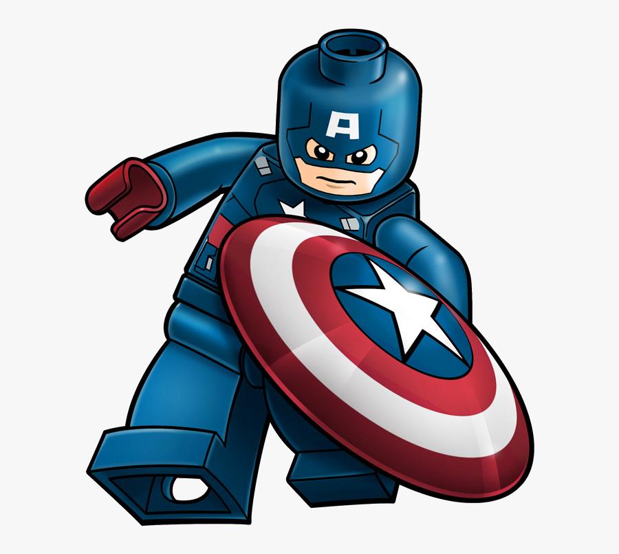 Lego Marvel Clipart - Captain America Lego Drawing, Transparent Clipart