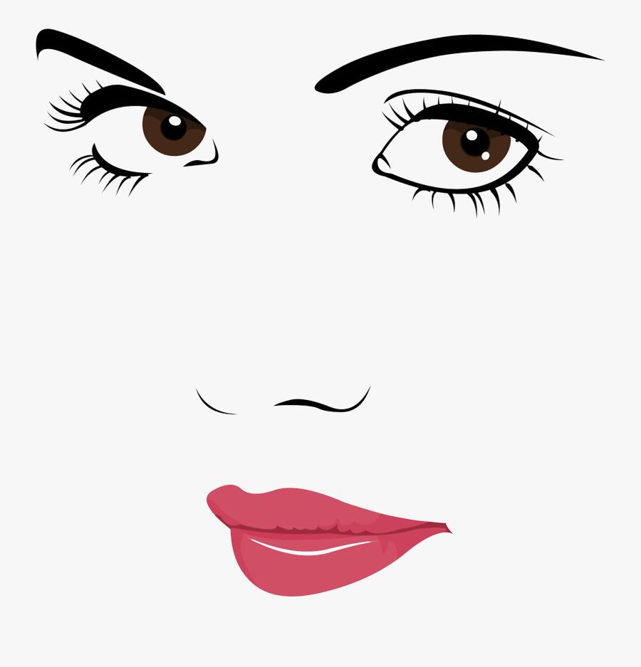Face Portrait Woman Clip Art - Beauty Girl Face Clip Art, Transparent Clipart