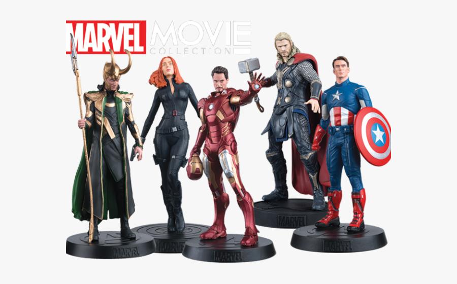 Transparent Avengers Clipart - Marvel Movie Figurine Collection, Transparent Clipart