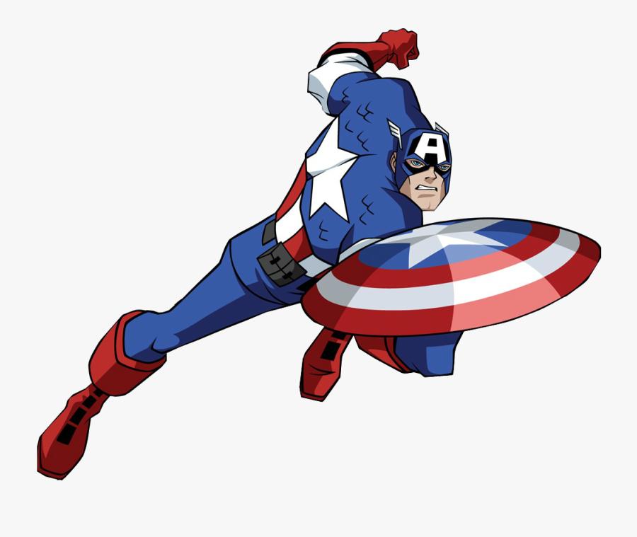 Captain America Vs Mcu - Captain America Comic Vector, Transparent Clipart