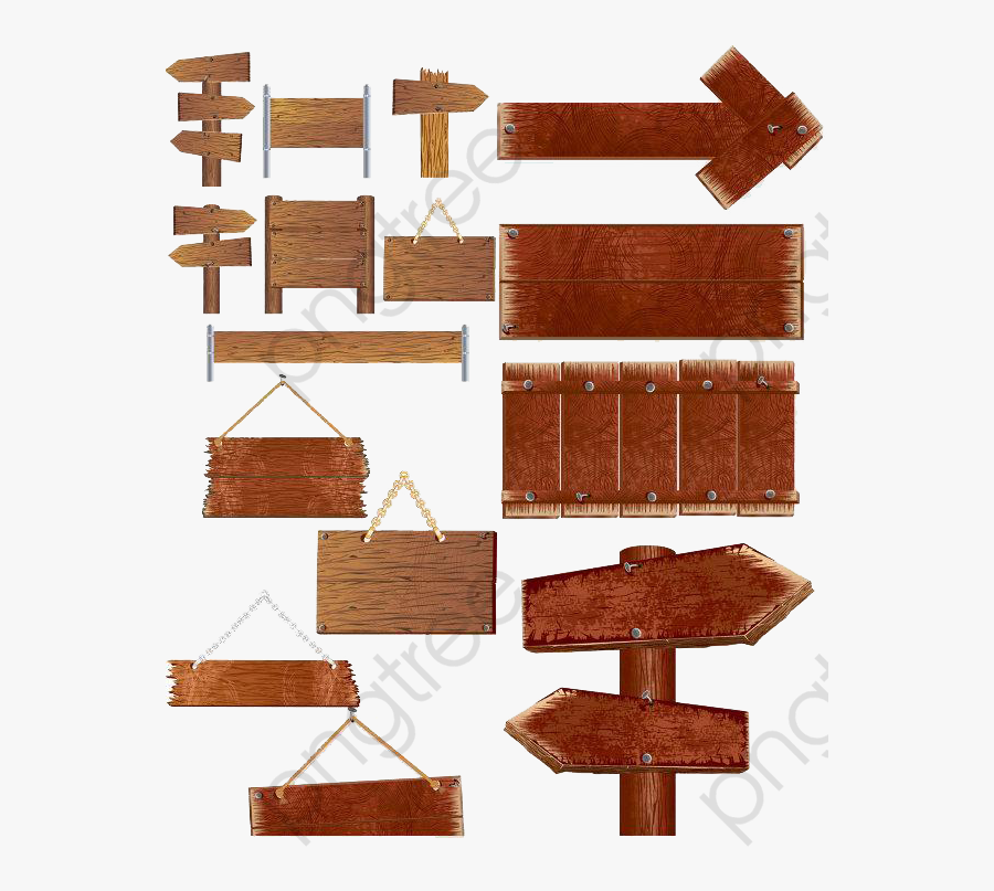 Direction Sign, Sign Clipart, Standard, Indicator Png - Jungle Wood Signage .png, Transparent Clipart