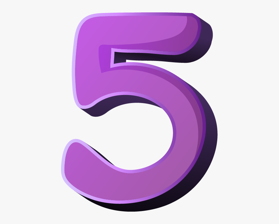 Five Big Image Png Ⓒ - Number 5 Kids   Transparent PNG