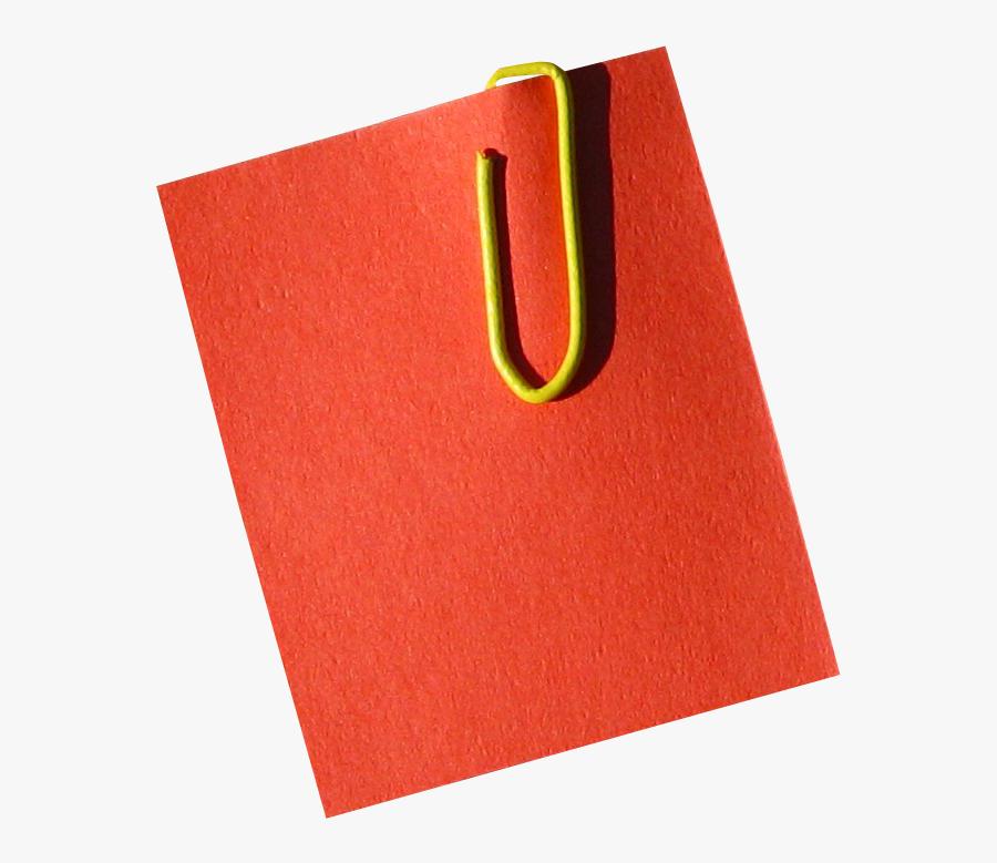Post It Note Bureau Trombonne Courrier Clip Art Png - Red Post It Notes Png, Transparent Clipart