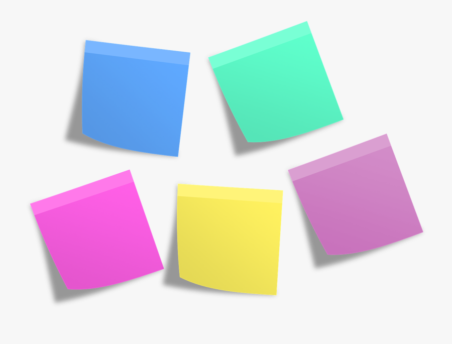 Group Of Sticky Notes - Transparent Background Post It Notes Png, Transparent Clipart