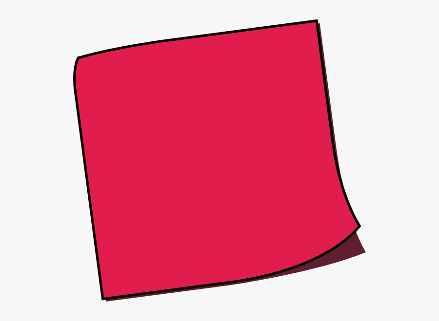 Red Post It Note, Transparent Clipart