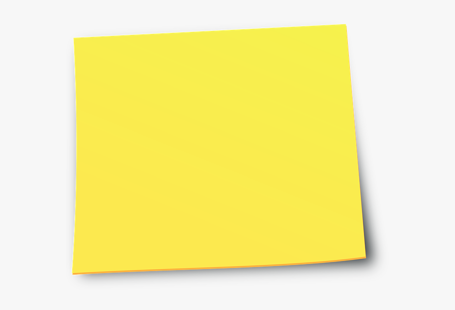 Yellow Sticky Notes - Post It Note Yellow Png, Transparent Clipart