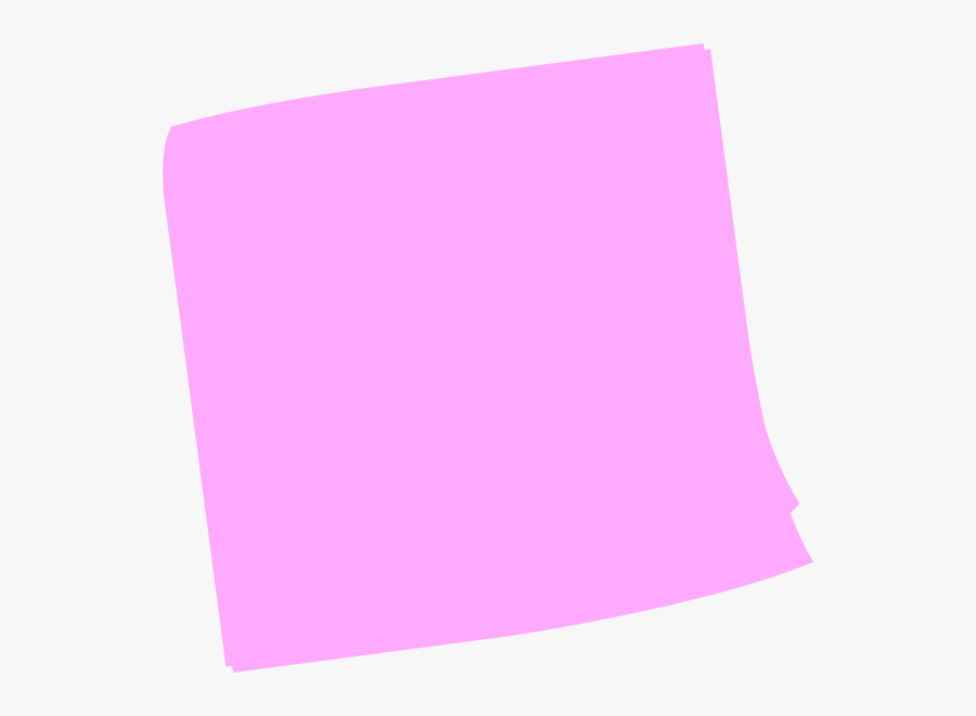 Pink Post It Clip Art At Clker - Pink Post It Note, Transparent Clipart