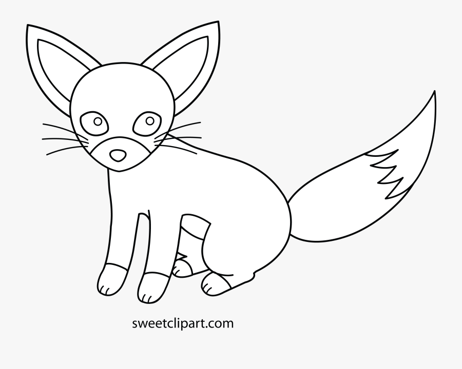 Hd Sweet Clipart Fox - Drawing, Transparent Clipart