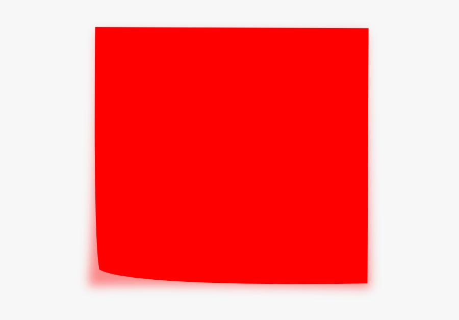 Red Sticky Note - Red Post It Note, Transparent Clipart