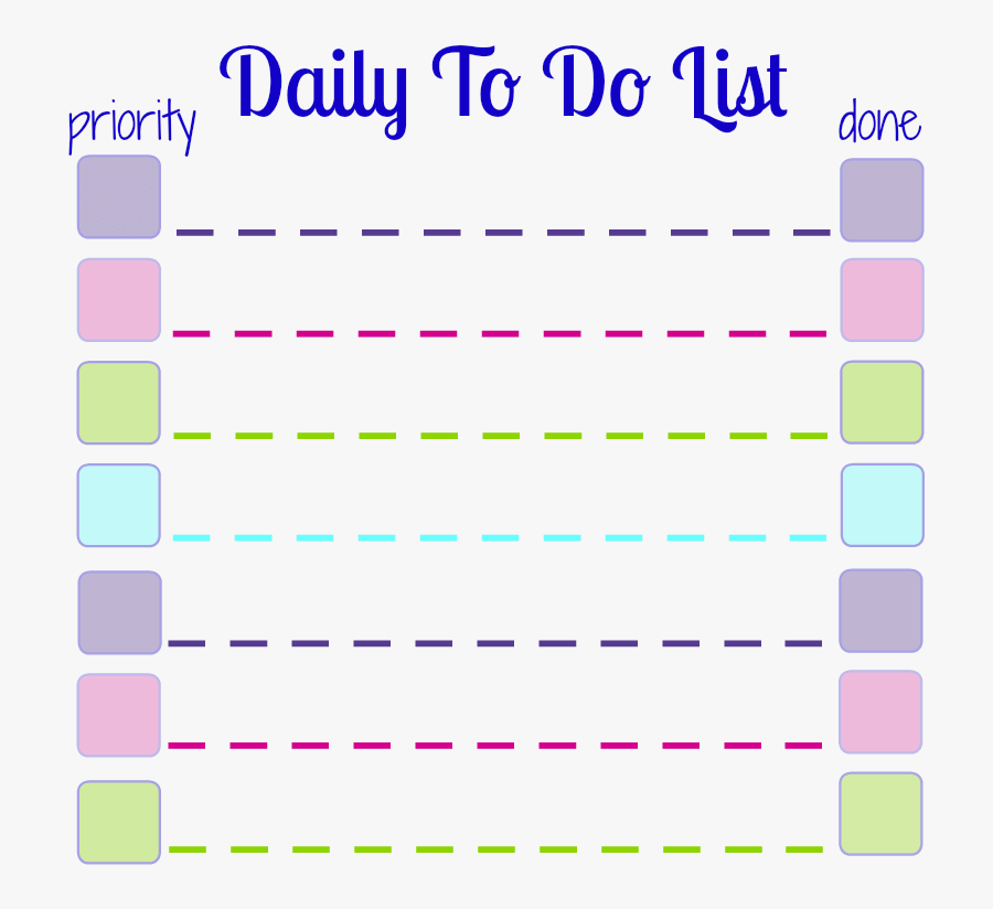 Make Your Own Daily To Do List Sticky Notes With This - Post-it Note, Transparent Clipart