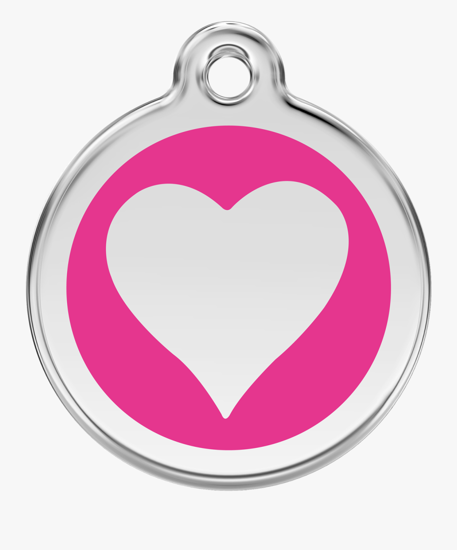 Red Dingo Stainless Steel & Enamel Heart Dog Id Tag - Paw Patrol Everest Logo, Transparent Clipart