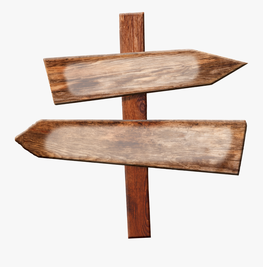 Wood Directional Sign Png, Transparent Clipart