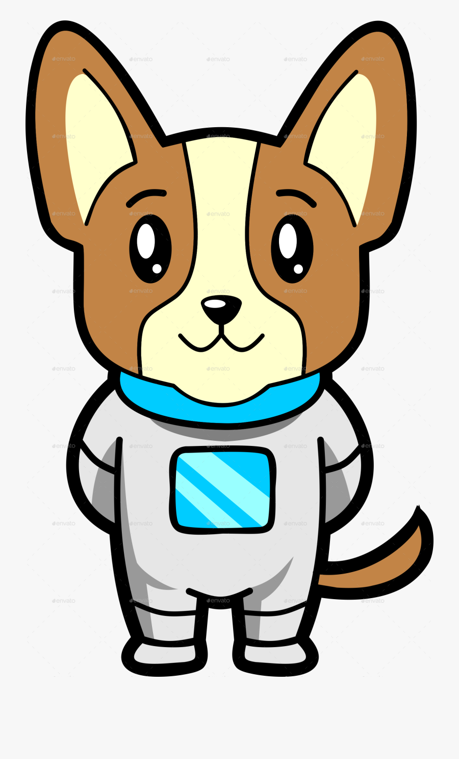 Space Clipart Dog Easy To Draw Cartoon Space Dog Free Transparent Clipart Clipartkey