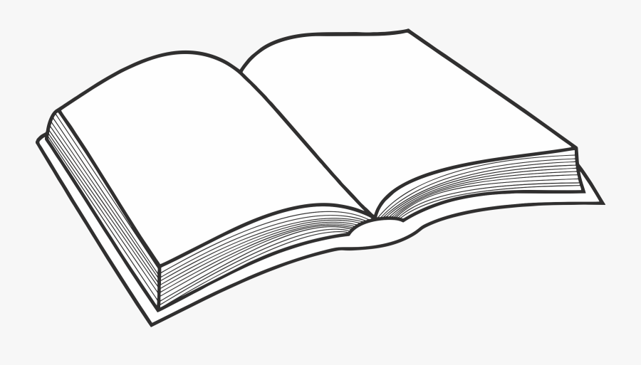 Open Book Simple Drawing, Transparent Clipart