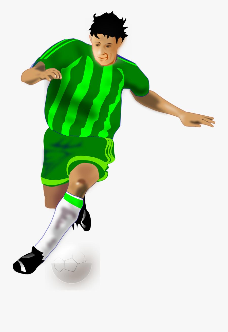 Transparent Football Player Png - Soccer Player Png, Transparent Clipart