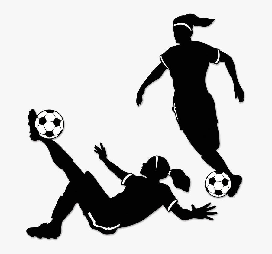 Soccer Girl Player Clipart Free Best Transparent Png - Girl Soccer Player Clipart, Transparent Clipart