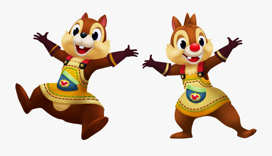 Chipmunk Clipart Snow White - Kingdom Hearts Chip And Dale, Transparent Clipart