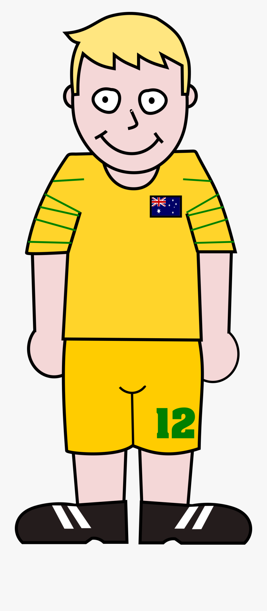 World Cup Soccer Player Clipart Png Transparent Png - Cartoon Soccer Player Standing Clipart, Transparent Clipart