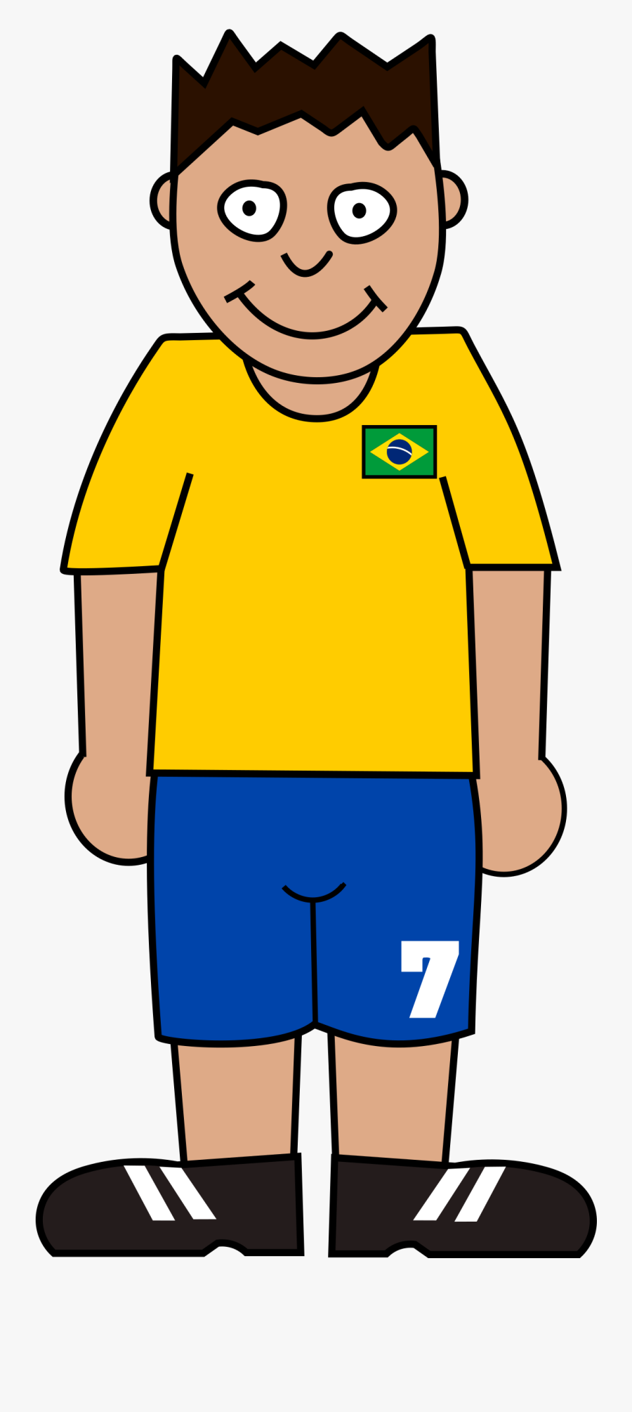 Soccer Player Clipart Standing - Standing Soccer Players Clipart, Transparent Clipart