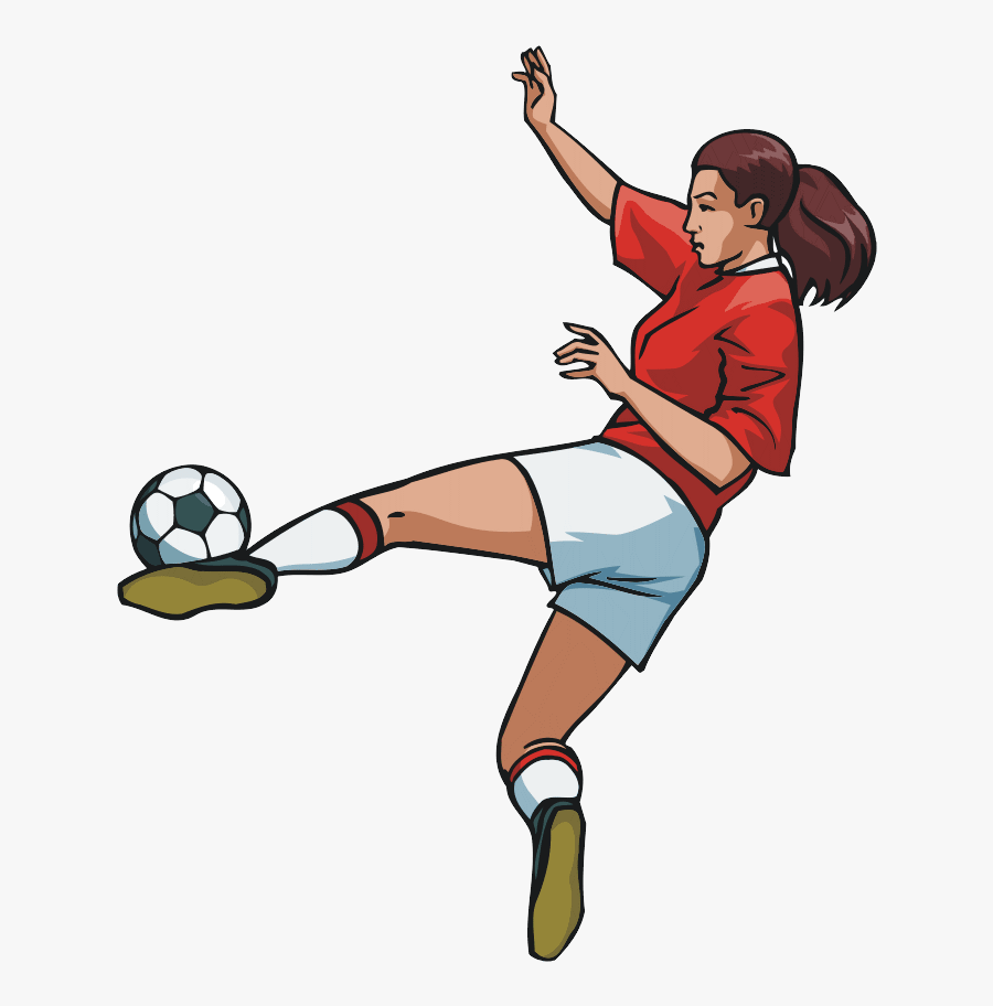 Female Soccer Player Clipart, Transparent Clipart
