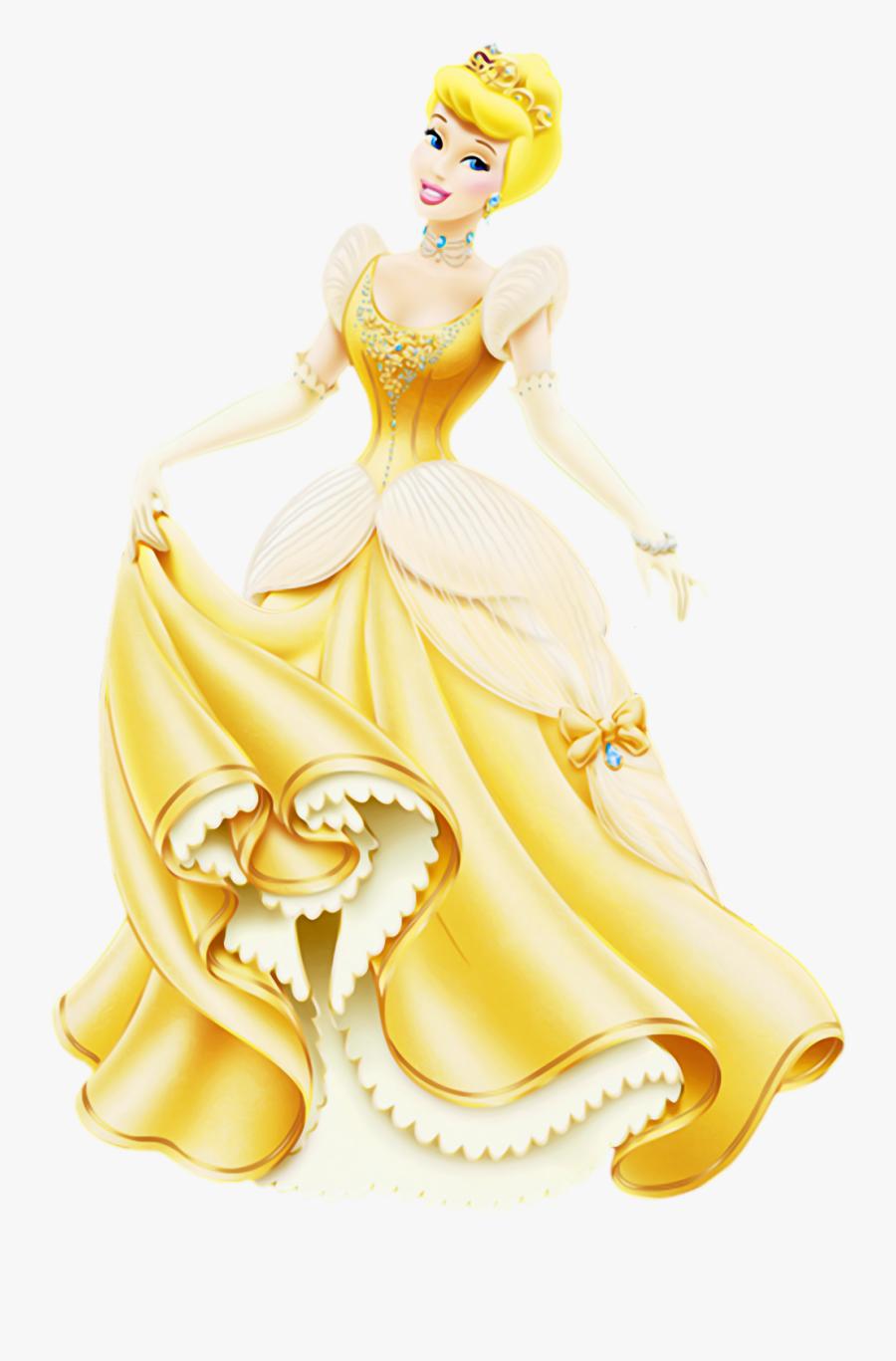 Picture Ariel Aurora Cinderella Jasmine Snow White - Disney Princess Cinderella Gold, Transparent Clipart
