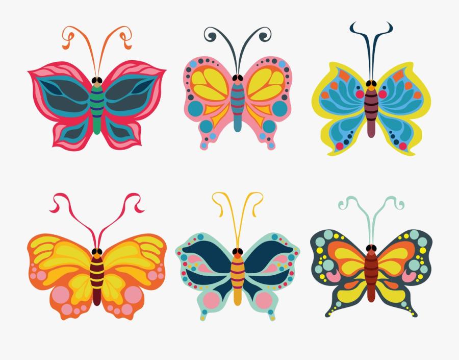 Butterfly Beautiful Clipart Vector Art Graphics Transparent - Butterfly Clipart, Transparent Clipart
