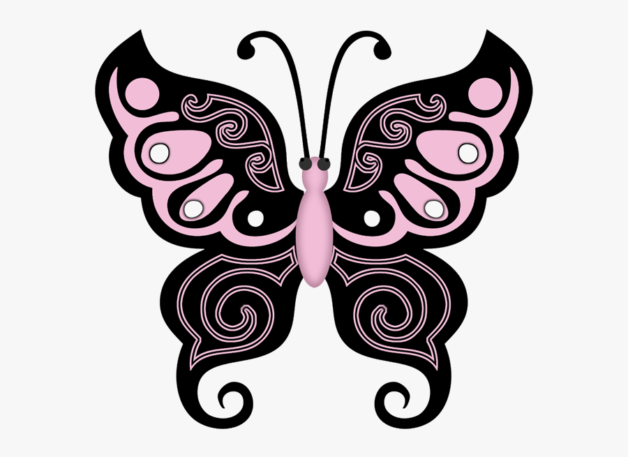 Playboy Bunny Collection Insect Clipart, Butterfly - Butterfly Border Design For Project, Transparent Clipart
