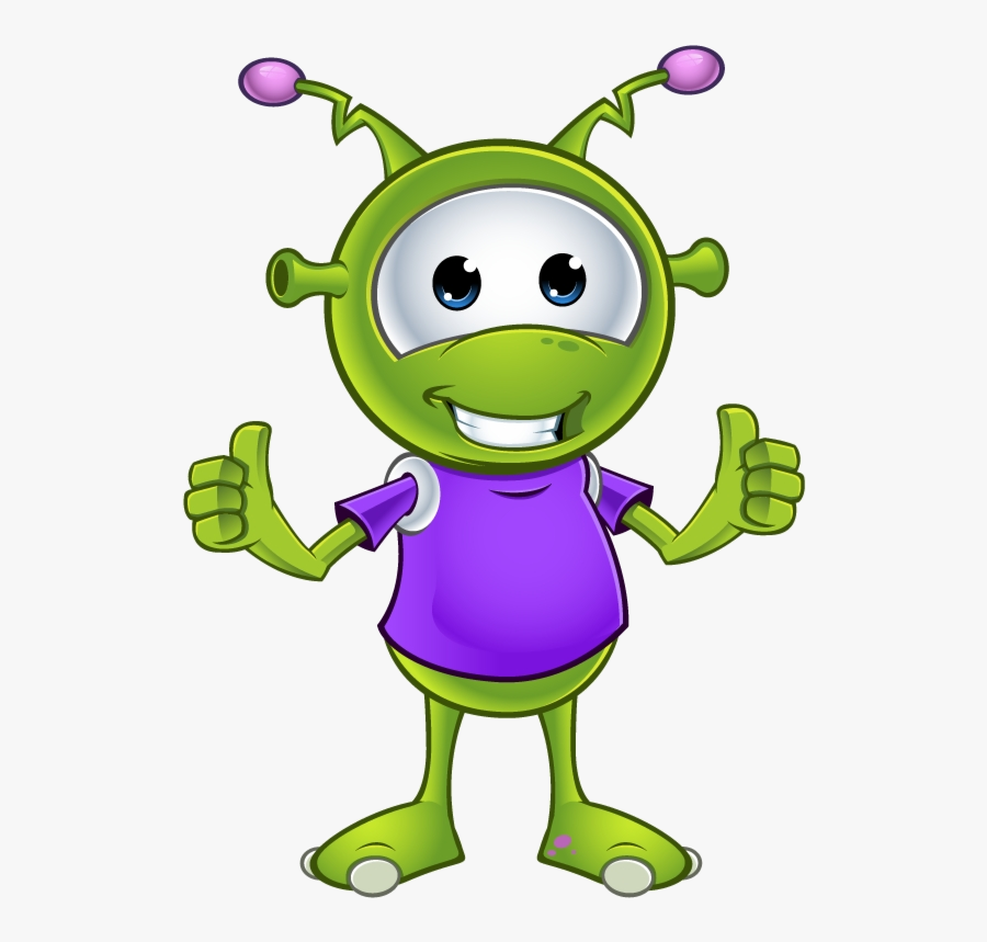 Alien Clipart Thumb For Free And Use In Presentations - Little Green Alien Cute, Transparent Clipart