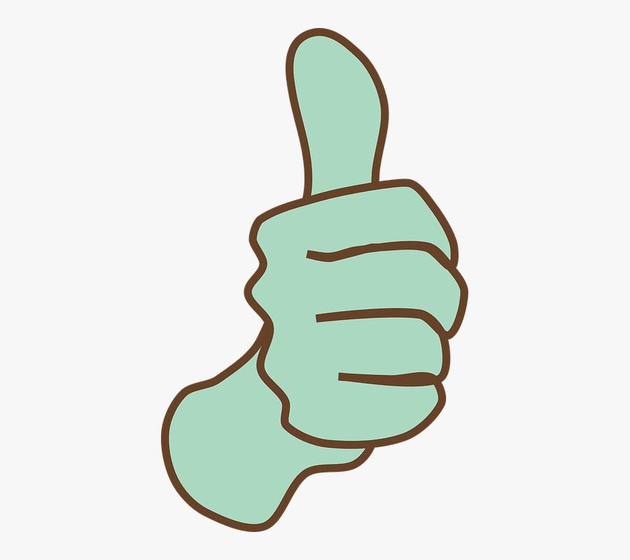 Ok Clipart Thumb - Thumbs Up Clipart, Transparent Clipart