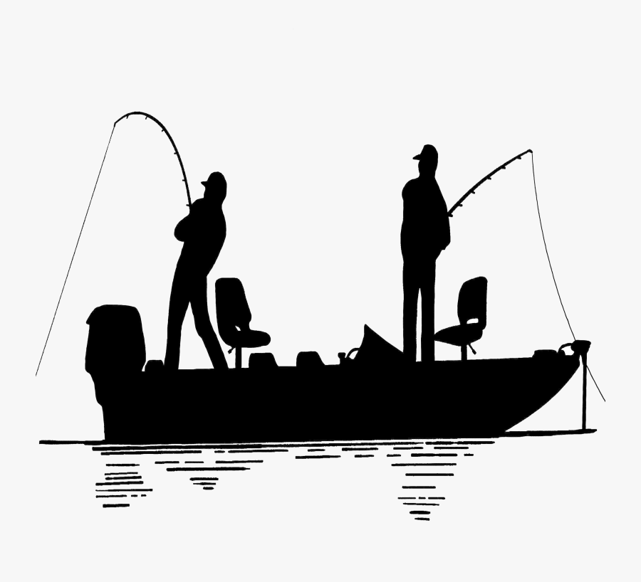 Transparent Fisherman Clipart - Silhouette Fishing Boat Clipart, Transparent Clipart