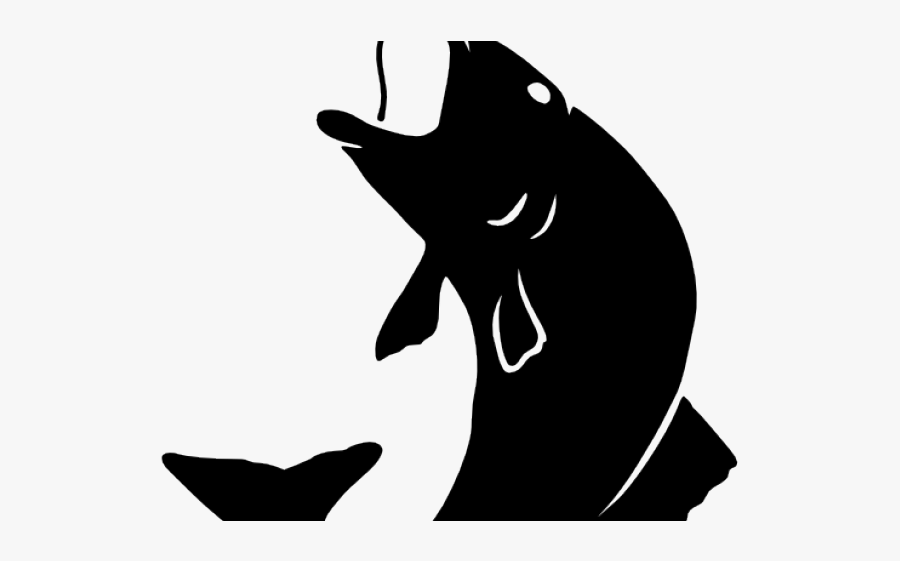 Fish Jumping Out Of Water Silhouette, Transparent Clipart